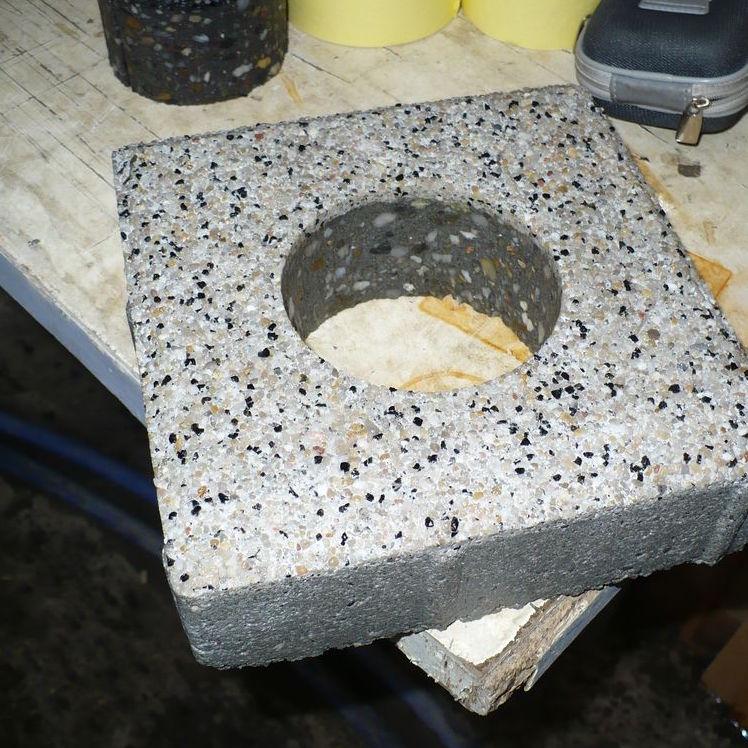 Wieluń - cięcie wodą kamienia, betonu, konglomeratów 2